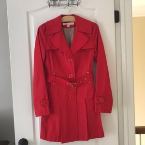 Spring trench coat - red